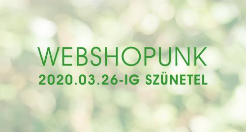 Webshopunk szünetel